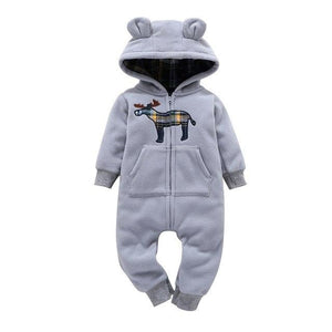Free shipping 2018 kids boys Long Sleeve Hooded jumpsuit Newborn Boy winter one piece clothes Baby Bear Romper Ski Jumpsuit - ourkids-shop