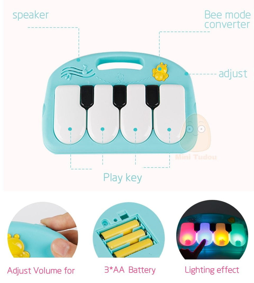 Educational Puzzle Carpet With Piano Keyboard And Cute Animal Playmat Baby Gym - ourkids-shop