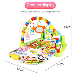Mini Tudou Baby Play Mat Kids Rug Educational Puzzle Carpet With Piano Keyboard And Cute Animal Playmat Baby Gym - OurKids.Shop