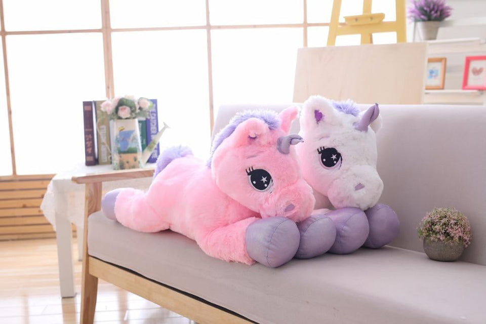 BIG SOFT GIANT UNICORN STUFFED PLUSH TOYS - ourkids-shop
