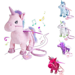 Electric Walking Unicorn Plush Toy For Children Christmas Gifts