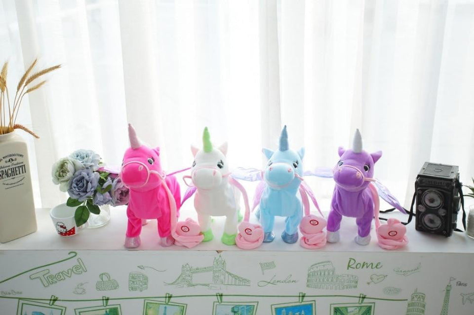 Electric Walking Unicorn Plush Toy For Children Christmas Gifts - ourkids-shop