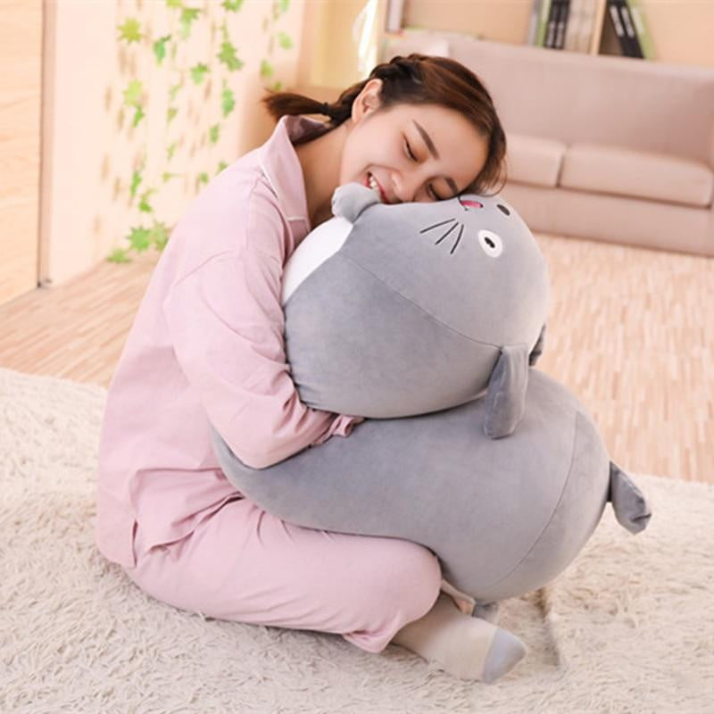 Plush Toy Stuffed, Soft Animal Cartoon Pillow Cushion Cute Fat Dog Cat Totoro Penguin Pig Frog - ourkids-shop