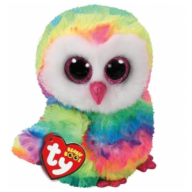 Plush Doll Toys for Girl Rabbit Fox Cute Animal Owl Unicorn Cat Ladybug - ourkids-shop