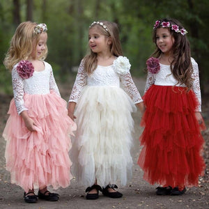 Little Girl Ceremonies Dress Baby Children's Clothing Tutu Kids Dresses for Girls Clothes Wedding Party Gown Vestidos Robe Fille - ourkids-shop