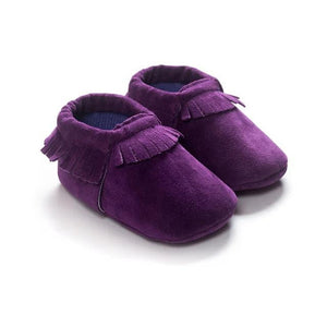 2019 PU Suede Leather Newborn Baby Moccasins Shoes Soft Soled Non-slip Crib First Walker - ourkids-shop