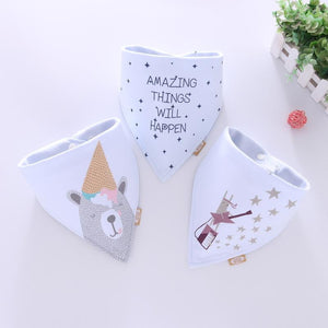 Cotton Bandana Bibs Baby Babador Feeding Smock Infant Burp Cloths Cartoon Saliva Towel Baby Eating Accessory Soft Baby Stuff - ourkids-shop