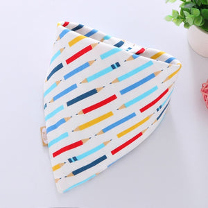 Cotton Bandana Bibs Baby Babador Feeding Smock Infant Burp Cloths Cartoon Saliva Towel Baby Eating Accessory Soft Baby Stuff