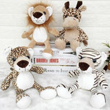 Germany Nici Jungle Brother Tiger Lion Panther Giraffe Plush Animal Toy