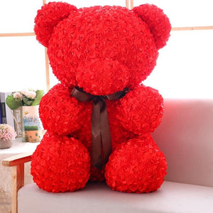 Mascot Rose Flower Bear Plush Toy - ourkids-shop