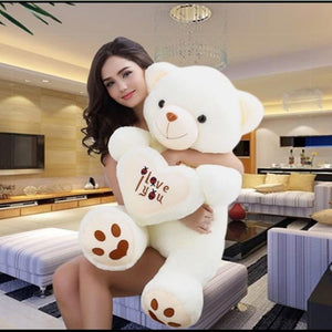 Big Classic Love Heart I Love You Teddy Bear Plush Toy - ourkids-shop