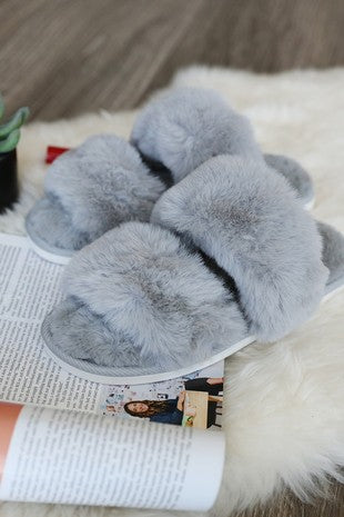 Gray Slippers