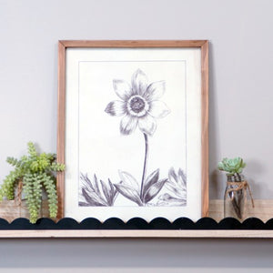 Wood Framed Floral Print