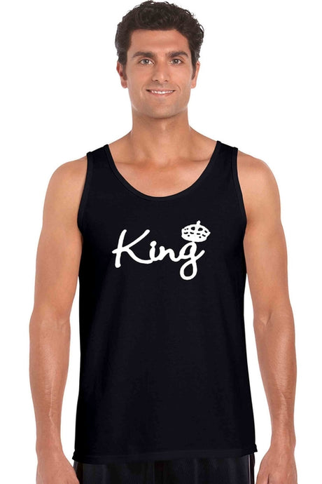 Men's Tank Top Shirt Bow Down To The King - Playbears