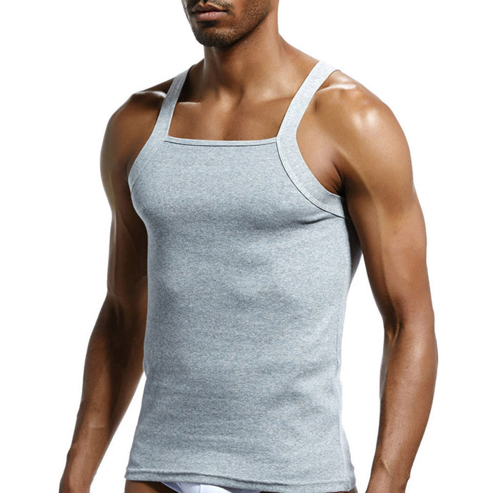 Men's Cut Ribbed Cotton Tank - Playbears