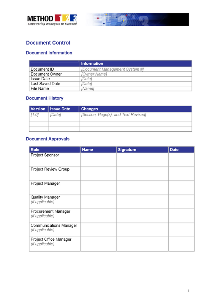 Using a Project Charter Template