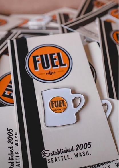 Fuel Mug Enamel Pin