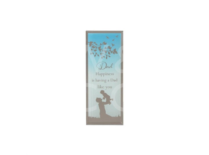 Reflections of the heart standing Dad plaque
