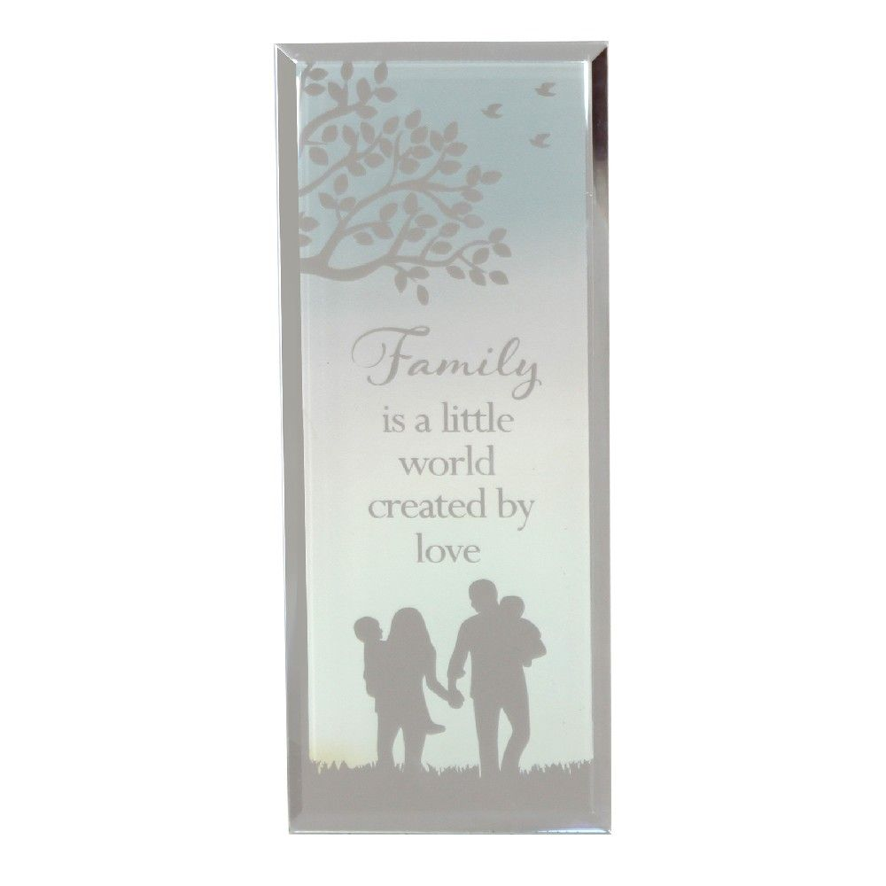 Reflections of the heart standing Family plaque