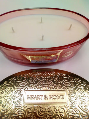 Rose Quartz soya candle four wick