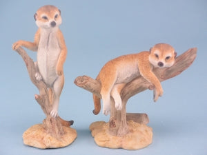 Meerkat laying on branch, Animal figure