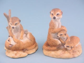 Playful Meerkats - Animal Figure