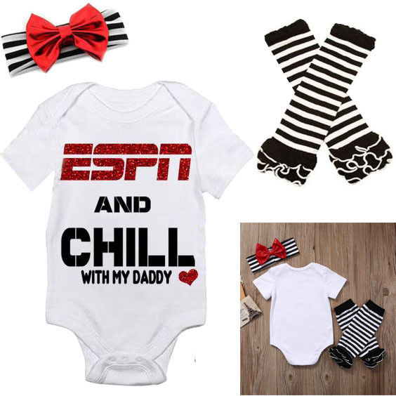 ESPN and Chill with My Daddy Romper Jumpsuit