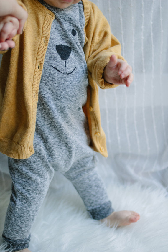 Smiley Bear Unisex Romper