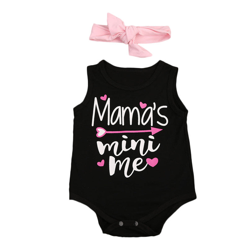 Mama Mini Me Bodysuit+headband Jumpsuit