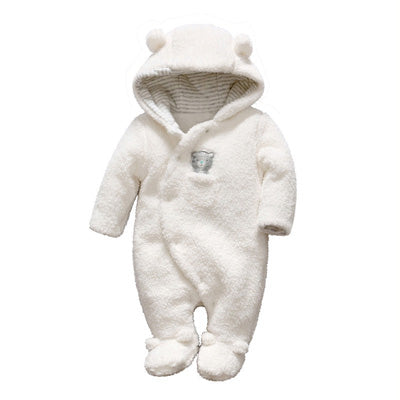 Unisex Bear Hooded Plush Jumpsuit