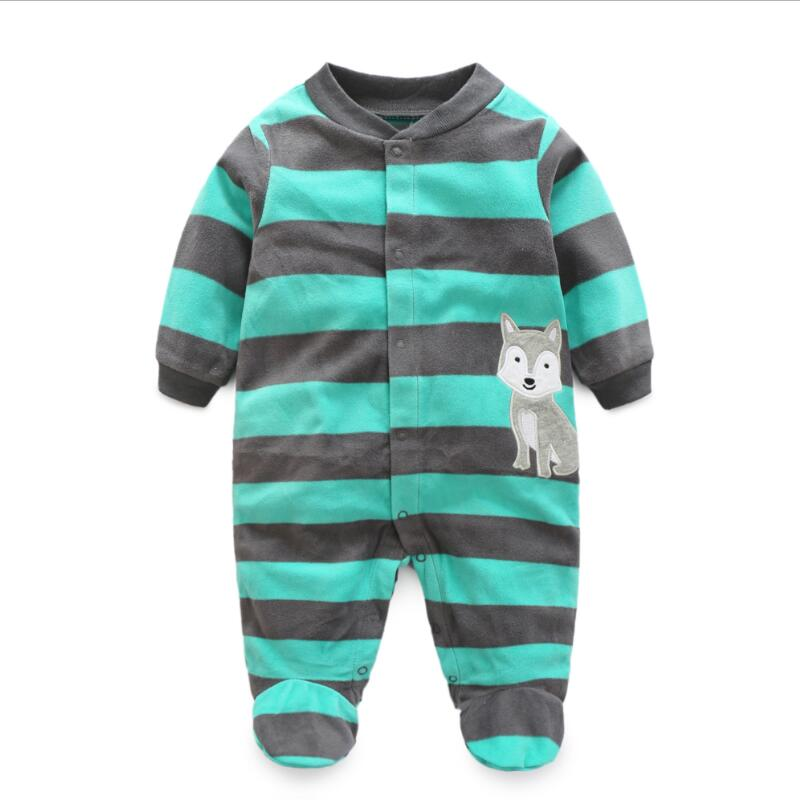Warm Fleece Animal Jumpsuit
