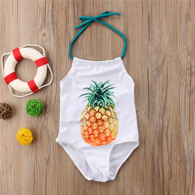 Baby Girls Pineapple Printed Swimsuit