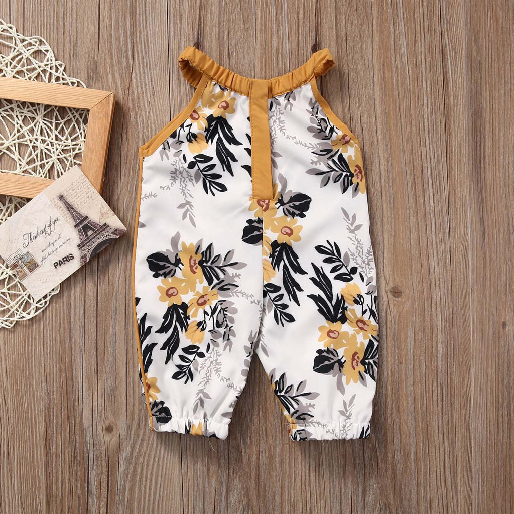 Sleeveless Floral Print Jumpsuit