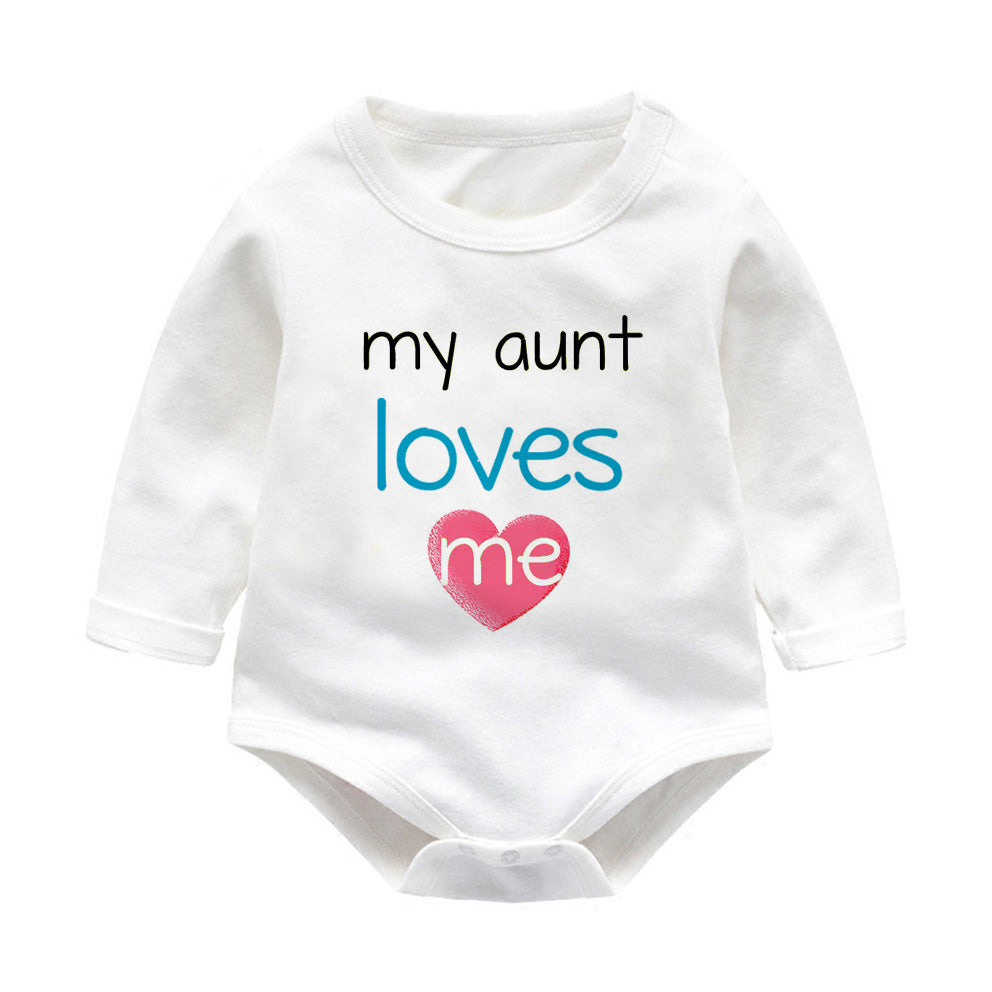 My Aunt Loves Me Unisex Baby jumpsuit