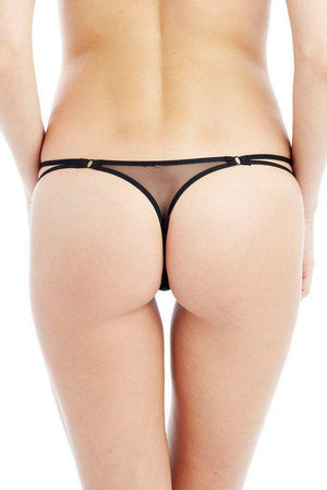 Addiction - Semi Sheer Panel Thong