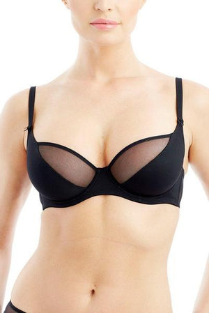 Addiction - Full Cup Underwire Bra with Semi-Sheer Panel