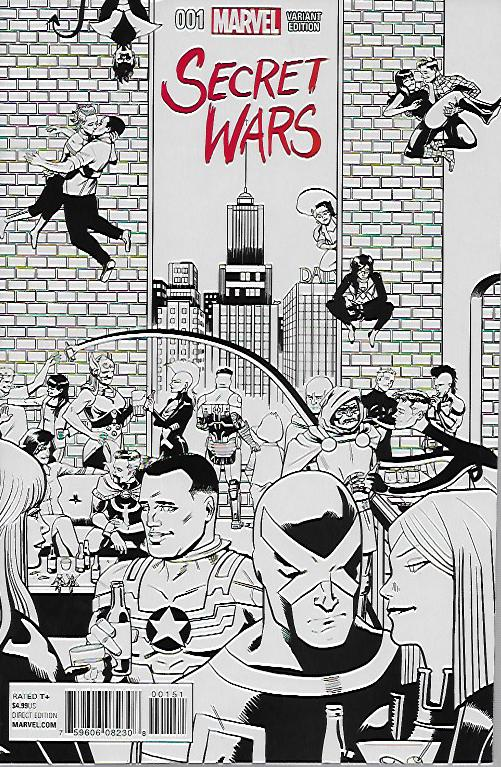 Secret Wars (2015) #1 Sketch Variant by Chip Zdarsky