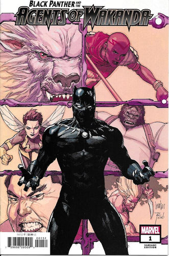 Black Panther and Agents of Wakanda #1 - Leinil Francis Yu Cover