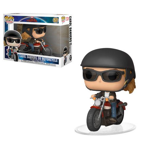 Captain Marvel Carol Danvers on Motorcycle Funko POP!