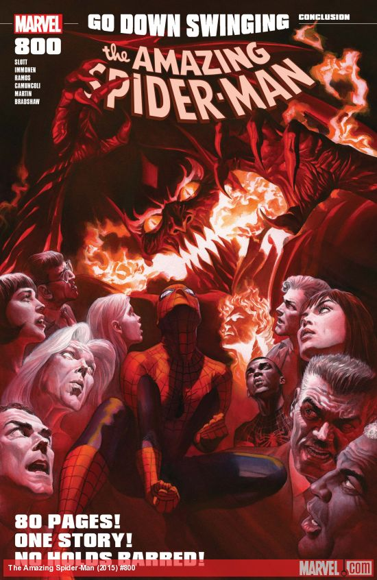 Amazing Spider-Man #800 Alex Ross Cover