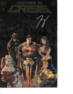Heroes in Crisis #1 - Rare Gold Foil Cover from NYCC Signed by Tom King!