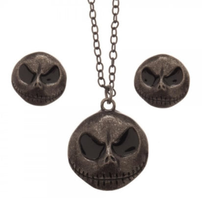 Nightmare Before Christmas Jack Necklace and Earrings