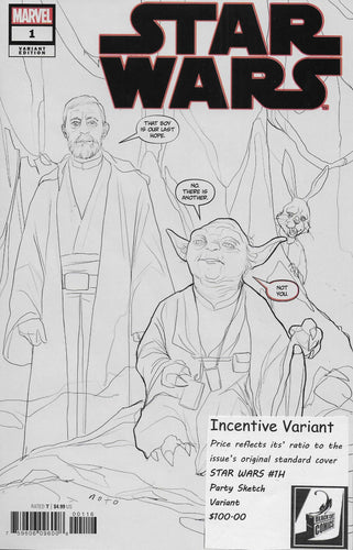Star Wars #1 (2020) - Party Sketch Cover