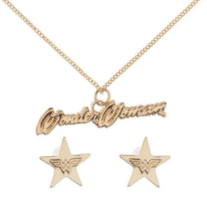 Wonder Woman Necklace and Earring Set