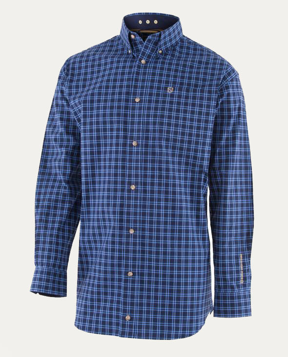 Generations Long Sleeved Navy Plaid Shirt