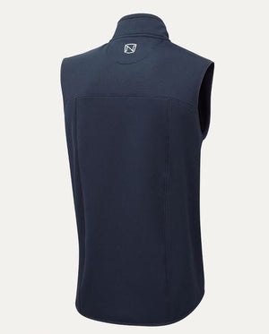 Braham Fleece Vest in Navy (Backview)