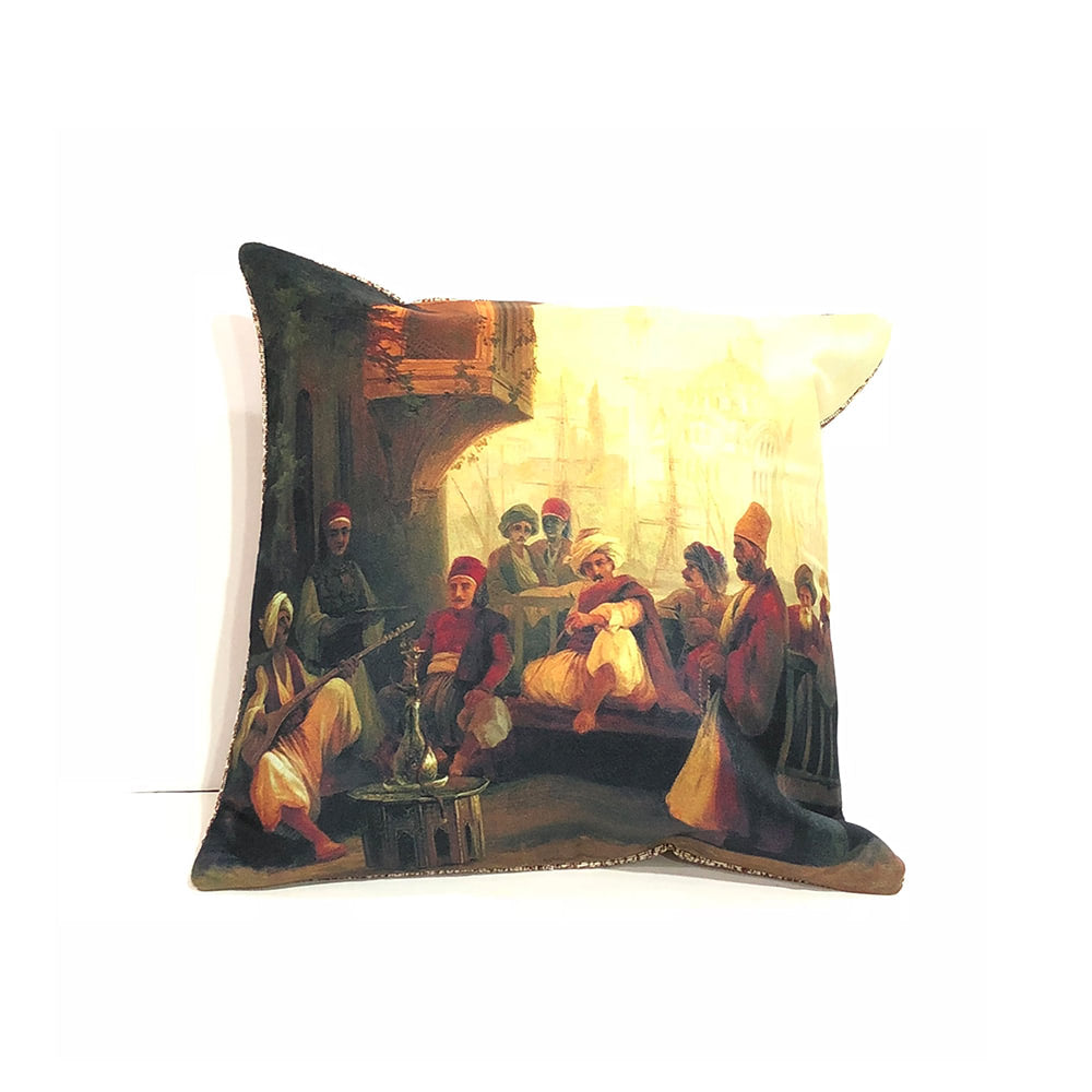 Turkish Cushion Cover - Musicians
