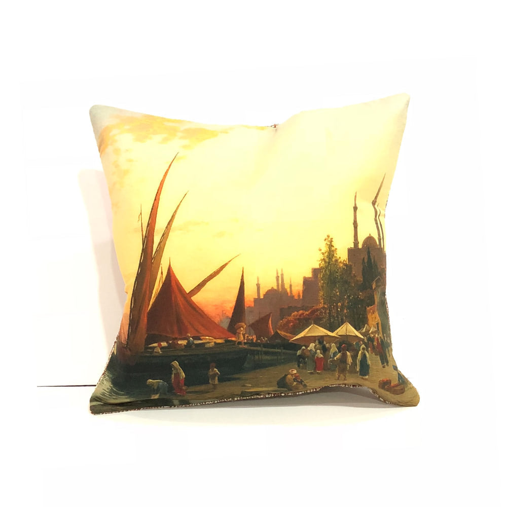 Turkish Cushion Cover - Ships Docked