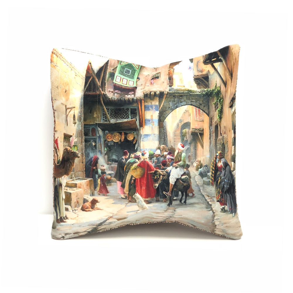 Turkish Cushion Cover - Crowd