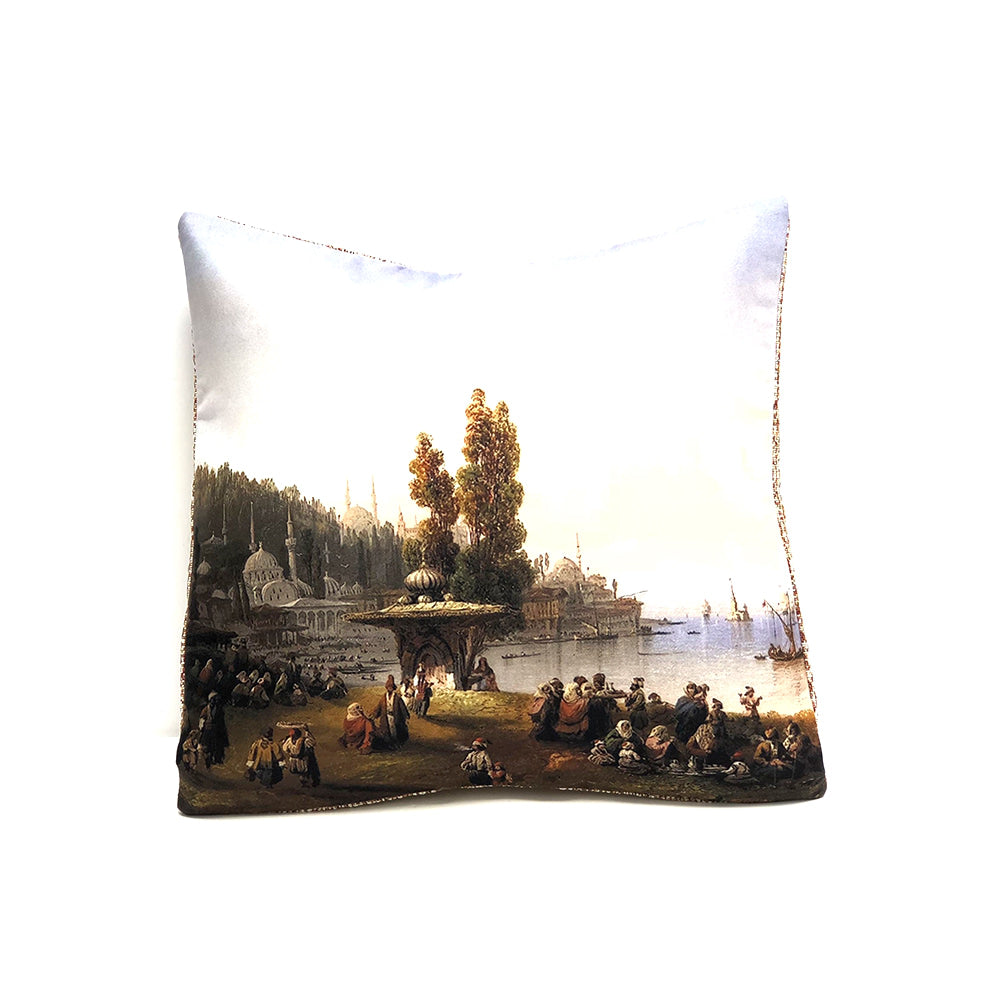 Turkish Cushion Cover - By The Sea